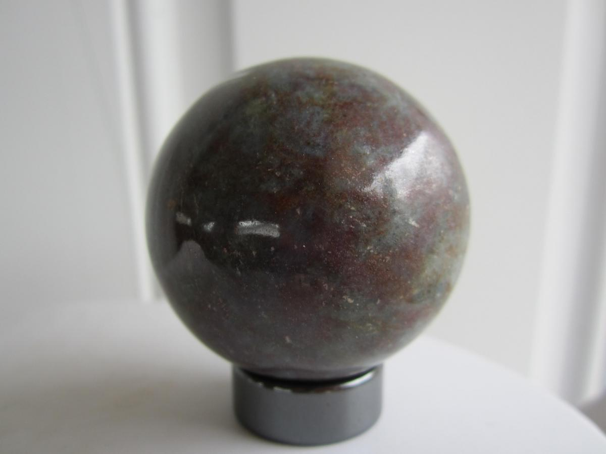 Ruby in Kyanite Carved Crystal Sphere